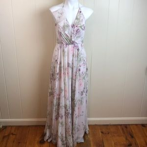 Jenny Yoo Floral Bridesmaids Prom Formal Gown